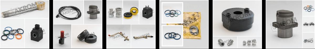 Hydraulické prvky na JCB