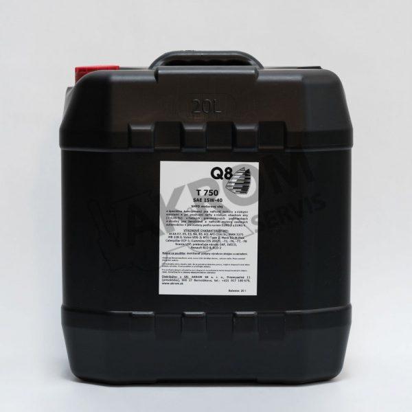 Olej motorový Q8 T750 15W40